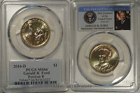 2016 D GERALD FORD PRESIDENTIAL DOLLAR $1 PCGS MINT STATE 66 POSITION B