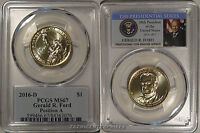 2016 D GERALD FORD PRESIDENTIAL DOLLAR $1 PCGS MINT STATE 67 POSITION A
