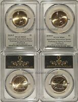 2018 P & D INNOVATION DOLLAR WASHINGTON 1ST PATENT 2 COIN SET PCGS MINT STATE 66 POS B