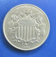 1868 SHIELD NICKEL CLASSIC COIN AU DETAILS 5 S1