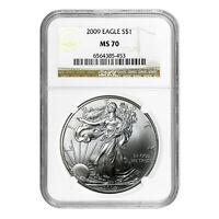 2009 $1 AMERICAN SILVER EAGLE MS70 NGC