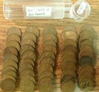 1935-D CENT CIRCULATED ROLL SOLID DATE  50 LINCOLN WHEAT PENNIES