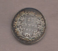 1883H VICTORIAN CANADIAN SILVER 25 CENT   VERY GOOD CONDITIO