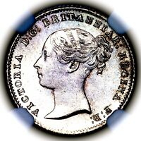 1838 QUEEN VICTORIA GREAT BRITAIN SILVER FOURPENCE 4 PENCE G