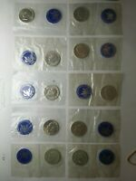 LOT OF 10 UNC $1 EISENHOWER SILVER DOLLARS IN MINT CELLOPHAN