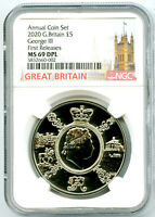 2020 GREAT BRITAIN 5PND KING GEORGE III NGC MS69 DPL FIRST R