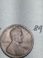 1922-D LINCOLN WHEAT CENT,  DATE, 89