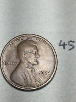 1923-S LINCOLN WHEAT CENT,  DATE, 45