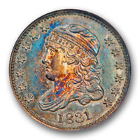 1831 H10C PROOF CAPPED BUST HALF DIME ANACS PF 62 PR TONED BEAUTY ONLY 8 EXIST
