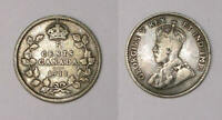 1911 CANADA STERLING SILVER 5 CENTS VF INV411 19