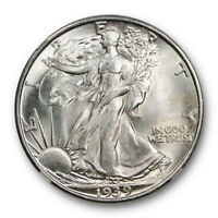 1939 S 50C WALKING LIBERTY HALF DOLLAR NGC MINT STATE 66 UNCIRCULATED CAC APPROVED