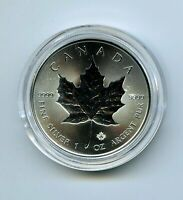 2019 $5 CANADA 1 OZ SILVER INCUSE DESIGN MAPLE LEAF IN A PLA