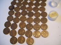 1949 FULL 50 ROLL OF  WHEAT PENNIES IN GOOD  CONDITION