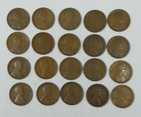 20-PIECE LOT X 1912 LINCOLN/WHEAT EARS REVERSE CENTS  GOOD OR BETTER