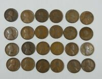 24-PIECE LOT X 1912 LINCOLN/WHEAT EARS REVERSE CENTS CULL OR BETTER