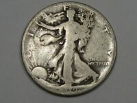 BETTER-DATE 1919 SILVER US WALKING LIBERTY HALF DOLLAR.  14