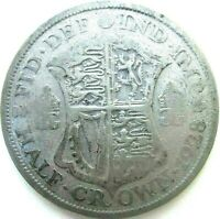 GREAT BRITAIN UK COINS 1/2 CROWN 1928 GEORGE V SILVER 0.500