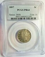 PROOF 1897 LIBERTY V NICKEL PCGS PR64 SHIPS FREE