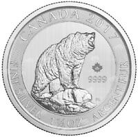 CANADA    2017 1.5  1 1/2  OZ GRIZZLY BEAR .9999 SILVER COIN