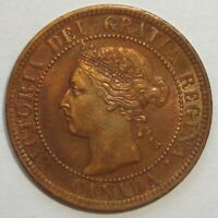 1900 H CANADA ONE 1 CENT VICTORIA LARGE PENNY COIN