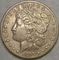 1903 MICRO S MORGAN SILVER DOLLAR APPEALING FEATURES  R.4 SEMI KEY VAM 2