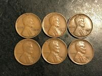 6  BROWN VF VF LINCOLN WHEAT CENTS 1910 1911 1923-S 1924-S 1931-D 1932-D