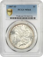 1897-O $1 PCGS MINT STATE 64 - BETTER DATE FROM NEW ORLEANS - MORGAN SILVER DOLLAR