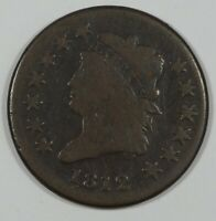 1812 CLASSIC HEAD SMALL DATE LARGE CENT GOOD 1C