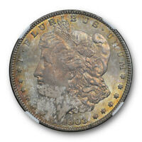 1903 $1 MORGAN DOLLAR NGC MINT STATE 64 UNCIRCULATED ATTRACTIVELY TONED BEAUTY