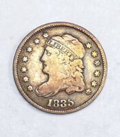 1835 CAPPED BUST SILVER HALF DIME FINE 5C