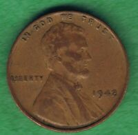 1942-P LINCOLN WHEAT ONE CENT PENNY COIN GOOD CONDITION
