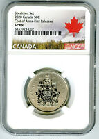 2020 CANADA 50 CENT NGC SP69 FIRST RELEASES HALF DOLLAR COAT