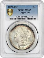 1879-CC $1 PCGS MINT STATE 65 CAPPED DIE - KEY DATE FROM CARSON CITY