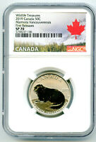 2019 CANADA 50 CENT VANCOUVER ISLAND MARMOT NGC SP70 FIRST R
