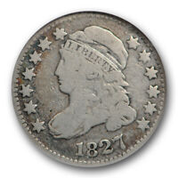 1827 10C CAPPED BUST DIME NGC VG 8  GOOD JR 12 JULES REIVER COLLECTION COIN
