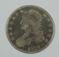 1831 CAPPED BUST LETTERED EDGE HALF DOLLAR GOOD SILVER 50C