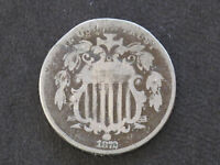 1872 SHIELD NICKEL GREAT TYPE COIN U. S. COIN D7701