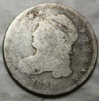 UNITED STATES 1828 SILVER DIME, CAPPED BUST
