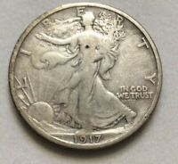 1917 WALKING LIBERTY 90 SILVER US HALF DOLLAR FIFTY CENT COIN EXACT COIN SHOWN