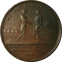 WCA 1807 SIERRA LEONE COPPER PENNY TOKEN COINAGE SLAVE TRADE ABOLISHED LOT 204