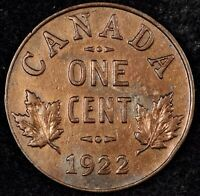 CANADA CENT NIGHT   HIGH GRADE DETAILS 1922 GEORGE V SMALL C