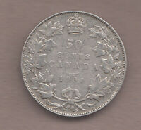 LOW MINTAGE 1931 CANADIAN SILVER 50 CENT   VERY GOOD CONDI