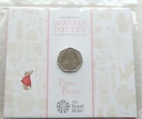 2018 ROYAL MINT BEATRIX POTTER FLOPSY BUNNY 50P FIFTY PENCE COIN PACK SEALED