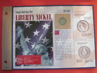 1906 LIBERTY NICKEL - U.S.MINT COIN CARD  / GREAT GIFT
