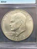 1973 S MINT STATE 68 EISENHOWER IKE SILVER $1 DOLLAR COIN ORIGINAL MINT LUSTER ICG GRADE