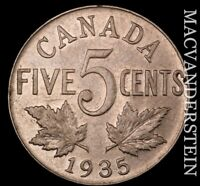 CANADA: 1935 FIVE CENTS   SCARCE  BETTER DATE  NR8684
