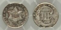 BEAUTIFUL 1851 THREE-CENT UNCIRCULATED SILVER COIN PCGS GRADED MINT STATE 65