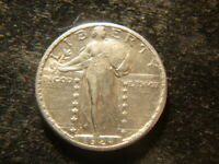 1924-S  AU  STANDING LIBERTY QUARTER FULL SHIELD  COIN TVZ