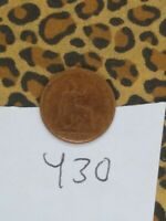 1860 GREAT BRITAIN / UK FARTHING SMALL BRONZE COIN TOOTHED B