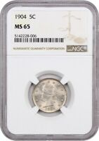 1904 5C NGC MINT STATE 65 - LIBERTY V NICKEL